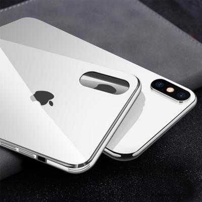 아이폰 XR XS MAX 맥스 8 7 플러스 컬러 클린 강화유리 하드 슬림핏 휴대폰 케이스