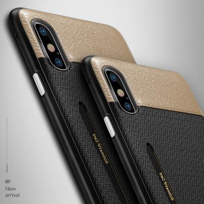 아이폰XR XS X MAX 7 8플러스/패브릭 가죽 카드케이스