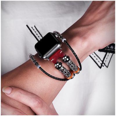 애플워치 빈티지 가죽 패션 밴드 스트랩 손목 시계줄