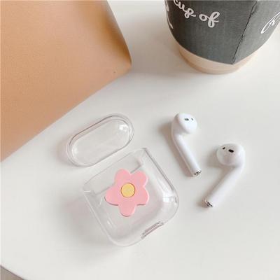 에어팟 에어팟2 입체 플라워 귀여운 투명 하드 케이스