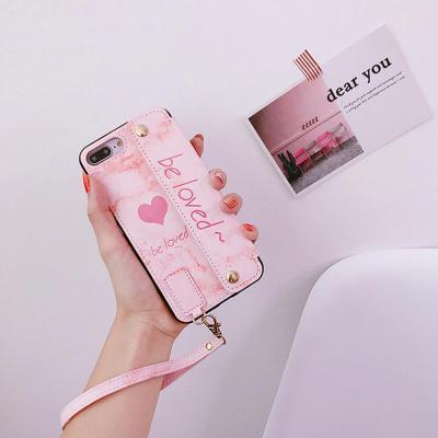 아이폰XR XS MAX 8 7+/하트 카드 지갑 스트랩 케이스