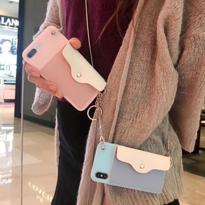아이폰XR XS MAX 8 7플러스/파스텔 카드 지갑 케이스
