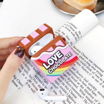 에어팟 에어팟2 차이팟 초콜렛 실리콘 케이스 고리형