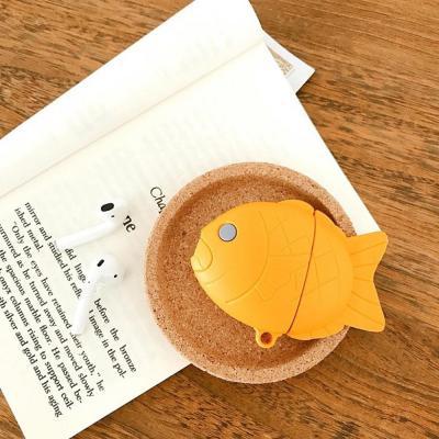 에어팟 에어팟2 차이팟 붕어빵 실리콘 충전 케이스
