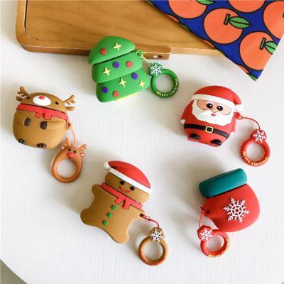 에어팟 케이스 1/2 차이팟 크리스마스 실리콘 키링 세트