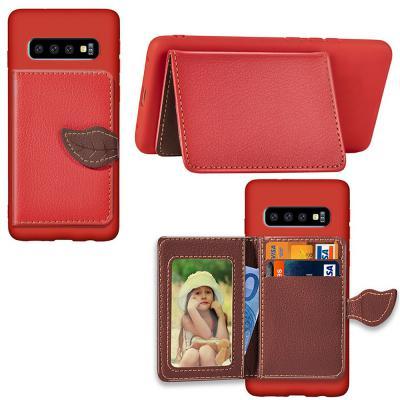 아이폰11/프로/맥스/나뭇잎 가죽 카드 지갑 폰케이스