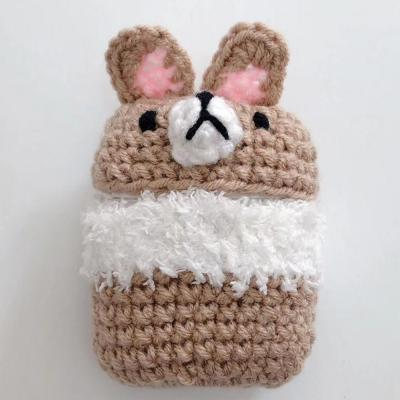 에어팟 1/2 차이팟 뜨개 강아지 토끼 실리콘 케이스