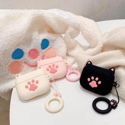 에어팟 케이스 1/2 고양이발바닥 실리콘 핑거키링세트