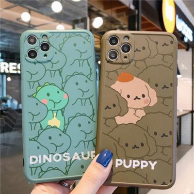아이폰11 PRO XR XS 8 7플러스 푸들 공룡 그립톡 실리콘 휴대폰 케이스