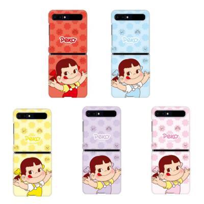갤럭시Z플립 페코짱 컬러 패턴 정품 캐릭터 슬림 하드 핸드폰 케이스