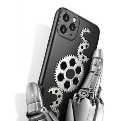 아이폰11 PRO MAX X XS 냉각효과 톱니바퀴 렌즈보호 실리콘 케이스