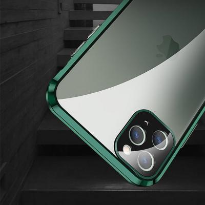 아이폰11 PRO MAX 카메라렌즈 보호 메탈 범퍼 투명 하드 핸드폰케이스