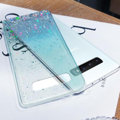 갤럭시 s20/s10/노트10/노트10/노트9 플러스/울트라  반짝이 데코 글리터 투명 젤리 휴대폰 케이스