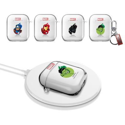 에어팟 케이스 1세대 2세대 SD 마블 캐릭터 투명 키링세트 무선충전