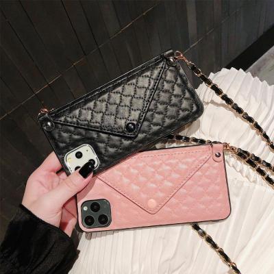 아이폰11 프로 XR X 8 SE2 목걸이줄 체인 스트랩 카드 핸드폰 케이스