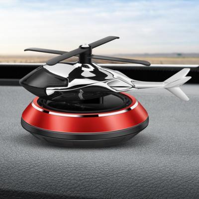 태양열 프로펠러 헬리콥터 차량용 방향제 디퓨저 부착형 4컬러 선물