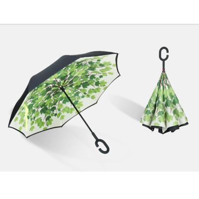 튼튼하고 예쁜 C형 손잡이 거꾸로 접이식 우산 장우산 아이디어우산