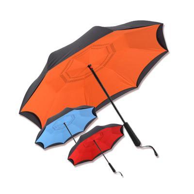 튼튼한 거꾸로 반자동 컬러 투톤 성인용 우산