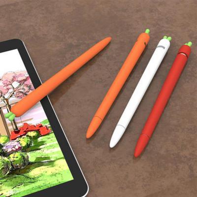 아이패드 애플 펜슬 1세대 2세대 호환 당근 실리콘 커버 펜촉 보호캡