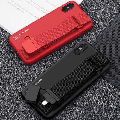 아이폰11 PRO XR X XS SE2 밴딩 충전 케이블 내장 스트랩 하드 케이스
