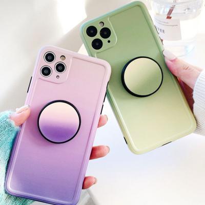 아이폰11 PRO XS SE2 8 카메라보호 그라데이션 그립톡 휴대폰 케이스