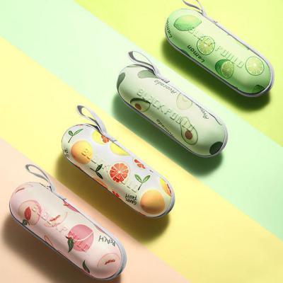 과일 패턴 미니 접이식 5단 캡슐 양산 우산 우양산 자외선차단