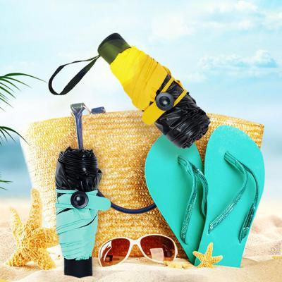 미니 포켓 접이식 수동 휴대 5단 양산 우산 우양산 UV자외선차단