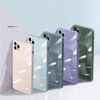 아이폰 12프로 11 SE2 XR 카메라보호 강화유리 하드 휴대폰 케이스