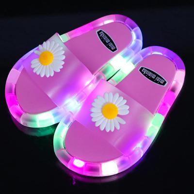 썸머 여름 LED 발광 반짝반짝 입체스마일 젤리 가족 패밀리 산책 슬리퍼