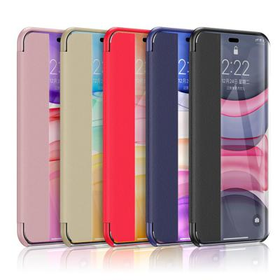아이폰11 PRO SE2 XR XS 8 클리어 가죽 플립 덮개 커버 휴대폰 케이스