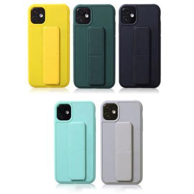 아이폰11 PRO SE2 XR 8 7 핸드스트랩 브래킷 실리콘 휴대폰 케이스