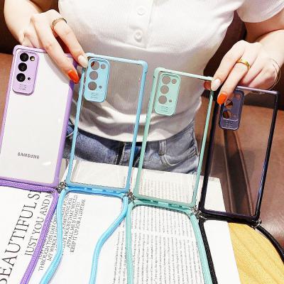 갤럭시 A51 A71 A20E A31 A41 파스텔 휴대폰줄 크로스 스트랩 케이스