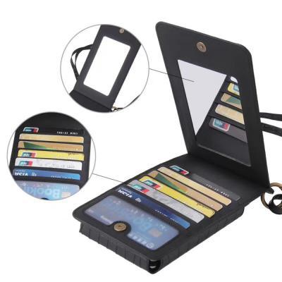 갤럭시 아이폰/악어 가죽 스트랩 케이스 크로스백 미니가방 카드 지갑