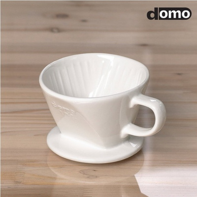 도모 도자기 커피 드리퍼(화이트) 1-2CUP