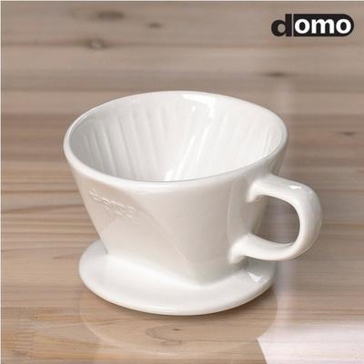 도모 도자기 커피 드리퍼(화이트) 3-4CUP