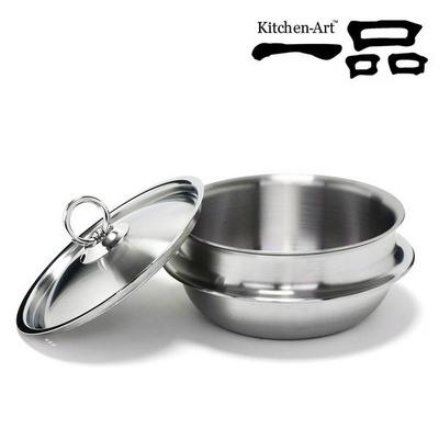 키친아트 일품 통5중 스텐304 가마솥 18cm(낮은형)