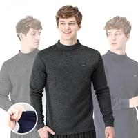 기모 남성 멜란지 폴라 긴팔 티셔츠/보온발열티셔츠