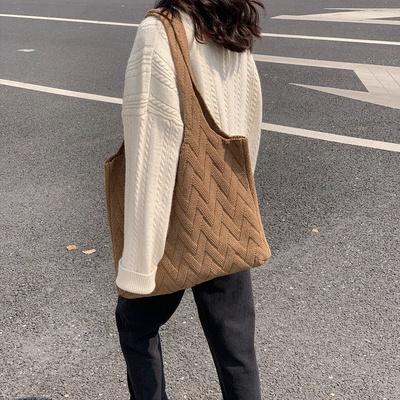 여자 니트가방 뜨개가방 숄더백 겨울에코백