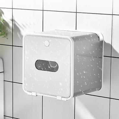 화장실 욕실 접착식 방수 휴지 화장지 걸이 케이스