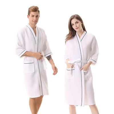 커플 호텔 와플면 샤워가운 목욕 여성용 남성용