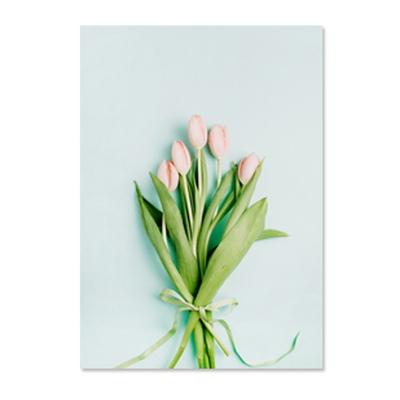 튤립(소) 북유럽 캔버스 그림 인테리어 거실 식물 액자