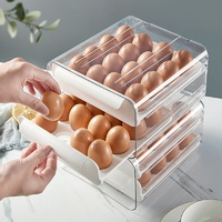 투명 2단 32구 계란 보관함 냉장고 정리 에그 트레이