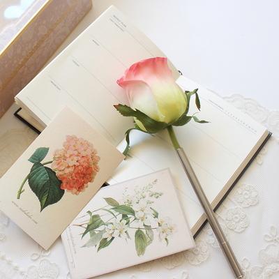 Tiny rose flower pen
