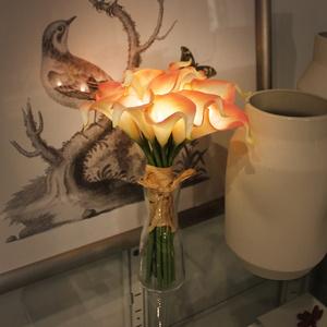 (꽃카드무료증정) 피치 카라 부케 LED 무드등 단품