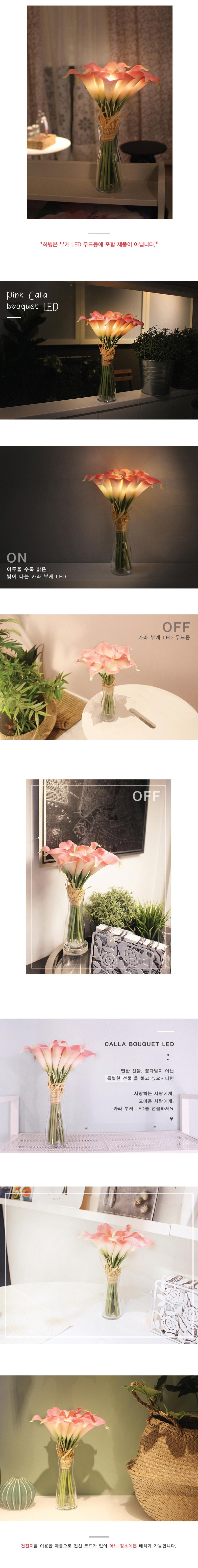 (꽃카드무료증정) 뉴 핑크 카라 부케 무드등 + 화병 - 비아케이스튜디오, 35,900원, 리빙조명, 테이블조명