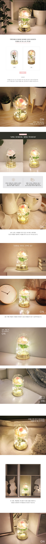 (꽃카드무료증정) 트윙클 핑크 로즈돔 LED 무드등 - 비아케이스튜디오, 21,000원, 리빙조명, 테이블조명
