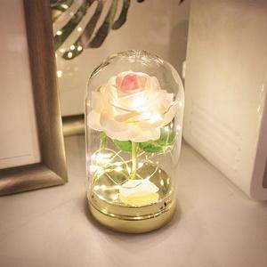 (꽃카드무료증정) 트윙클 핑크 로즈돔 LED 무드등