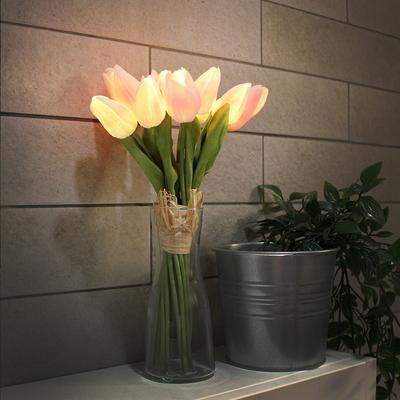 뉴 핑크 튤립 부케 LED 무드등