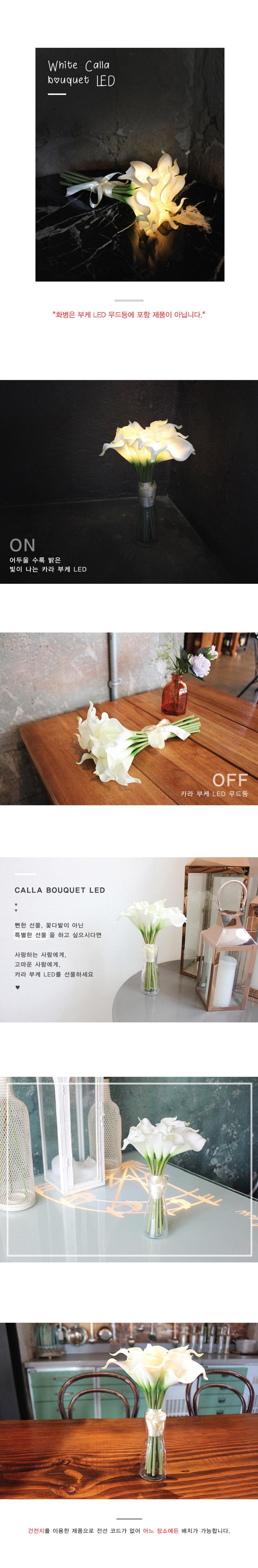 화이트 카라 부케 LED 무드등 - 비아케이스튜디오, 33,900원, 리빙조명, 테이블조명
