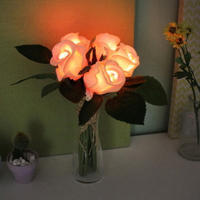 베이비 핑크 뉴로즈 부케 LED 무드등